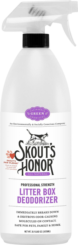 Skout's Honor Professional Strength Litter Box Deodorizer, 35-oz bottle Image