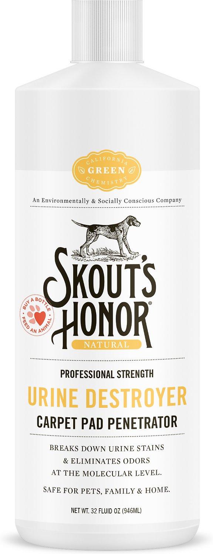 Skout's Honor Professional Strength Urine Destroyer Carpet Pad Penetrator, 32-oz bottle Image