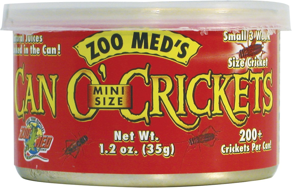 Zoo Med Mini Can O' Crickets Reptile & Bird Food, 1.2-oz can