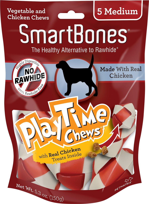 SmartBones Medium PlayTime Chicken Chews Dog Treats, 5 pack