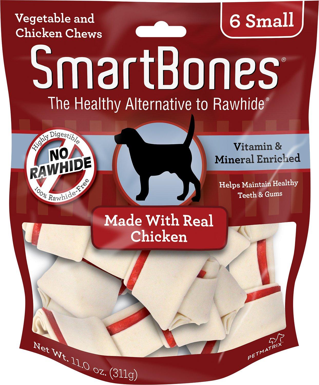 SmartBones Small Chicken Chew Bones Dog Treats, 6 pack