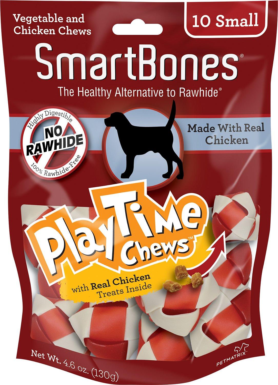 SmartBones Small PlayTime Chicken Chews Dog Treats, 10 pack