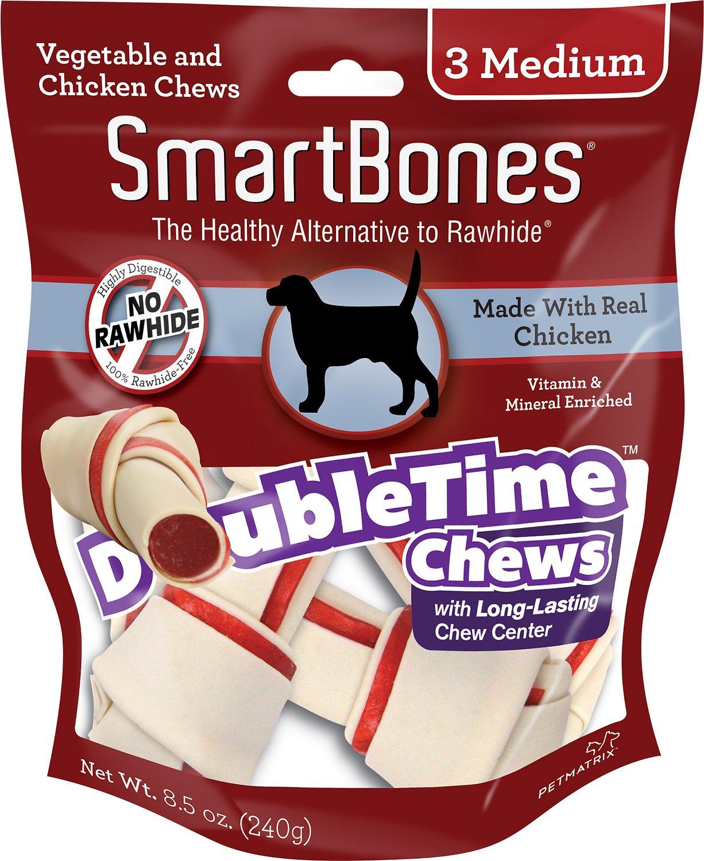 SmartBones Medium DoubleTime Chicken Chews Dog Treats, 3 pack