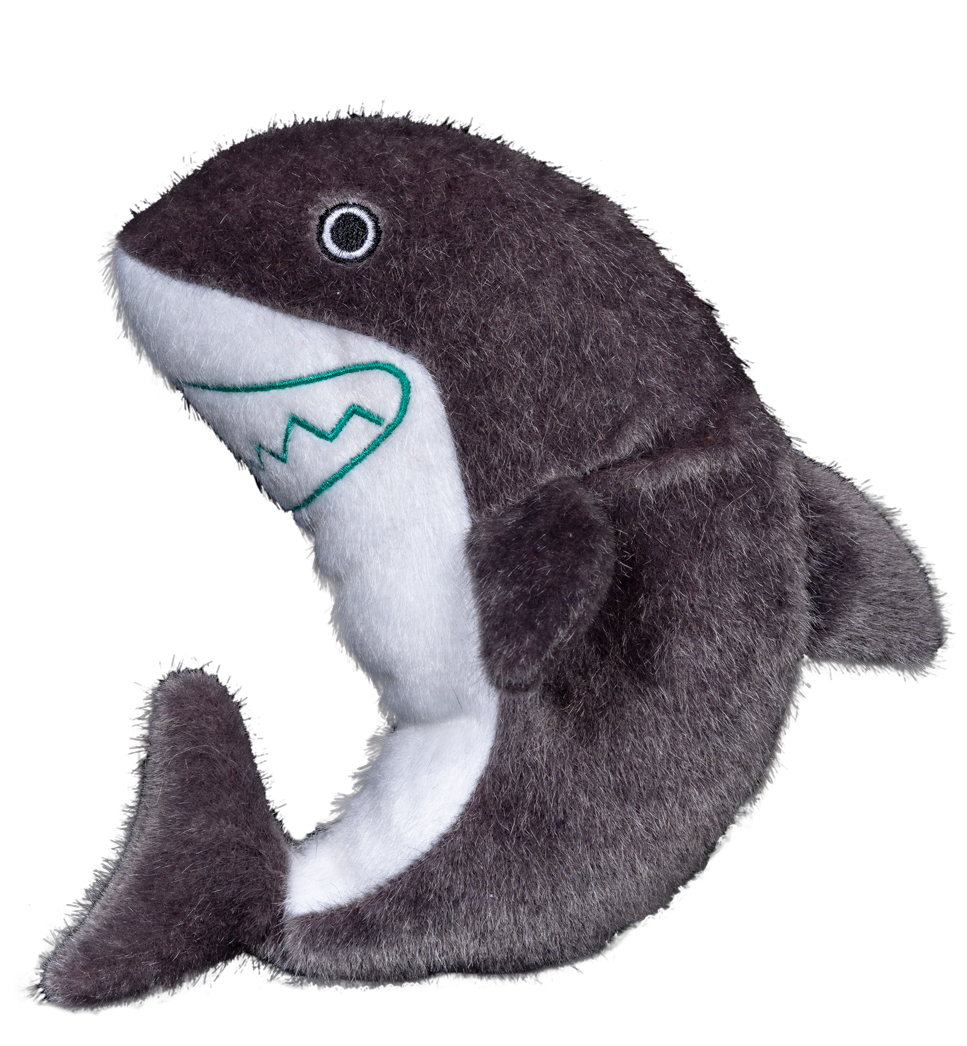 Spunky Pup Sea Plush Shark Dog Toy, Medium