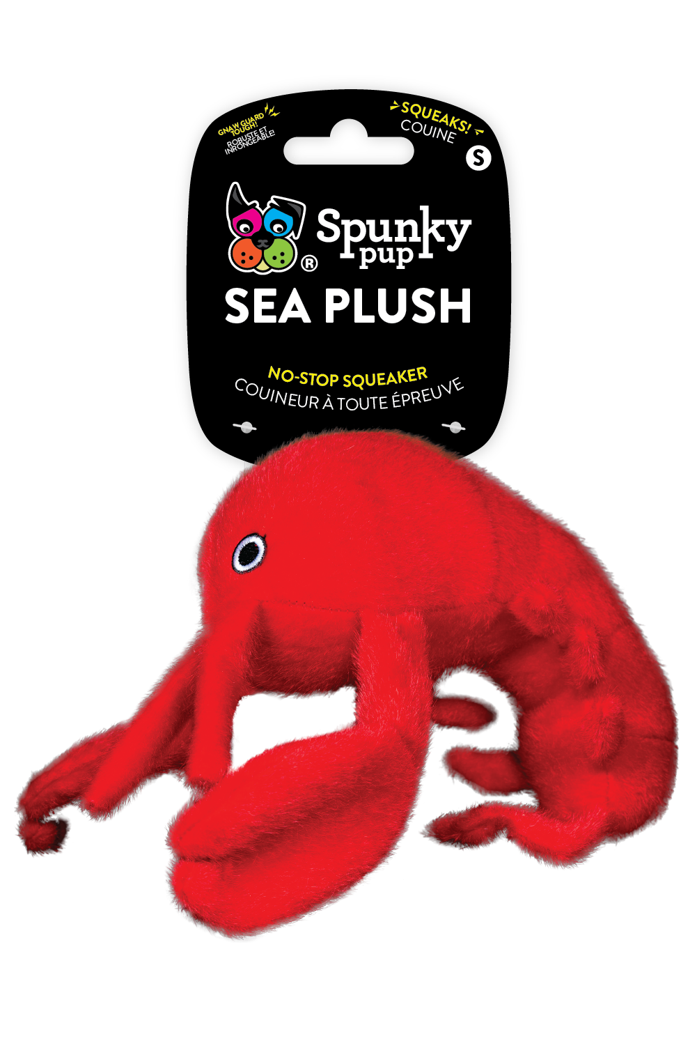 Spunky Pup Sea Plush Lobster Dog Toy, Small