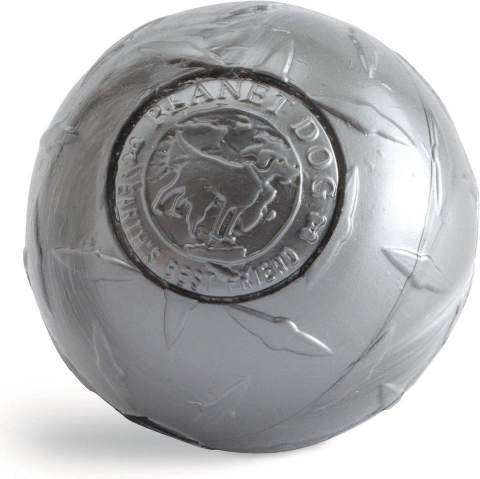Planet Dog Orbee-Tuff Diamond Plate Ball Dog Toy, Silver