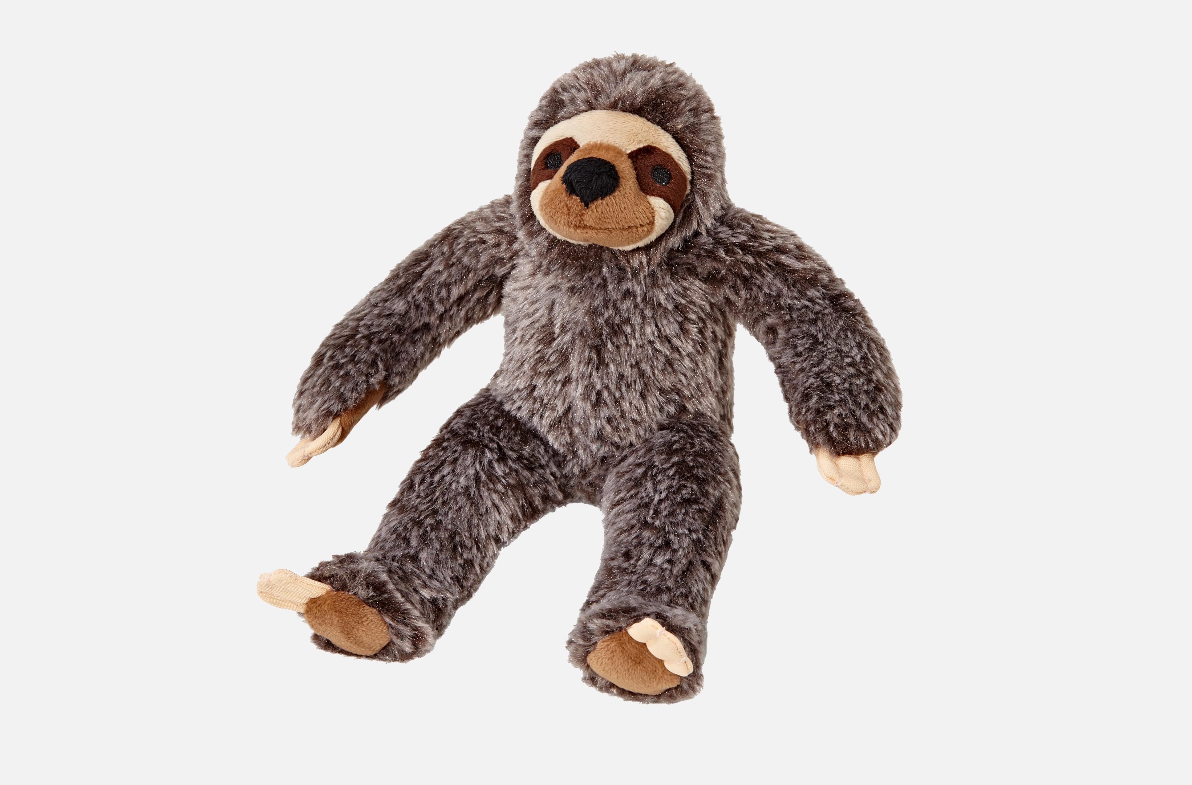 Fluff & Tuff Sonny Sloth Dog Toy, Small