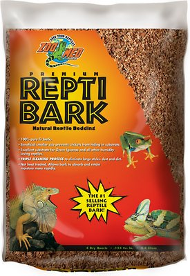 Zoo Med Premium Repti Bark Natural Fir Reptile Bedding, 4-qt bag