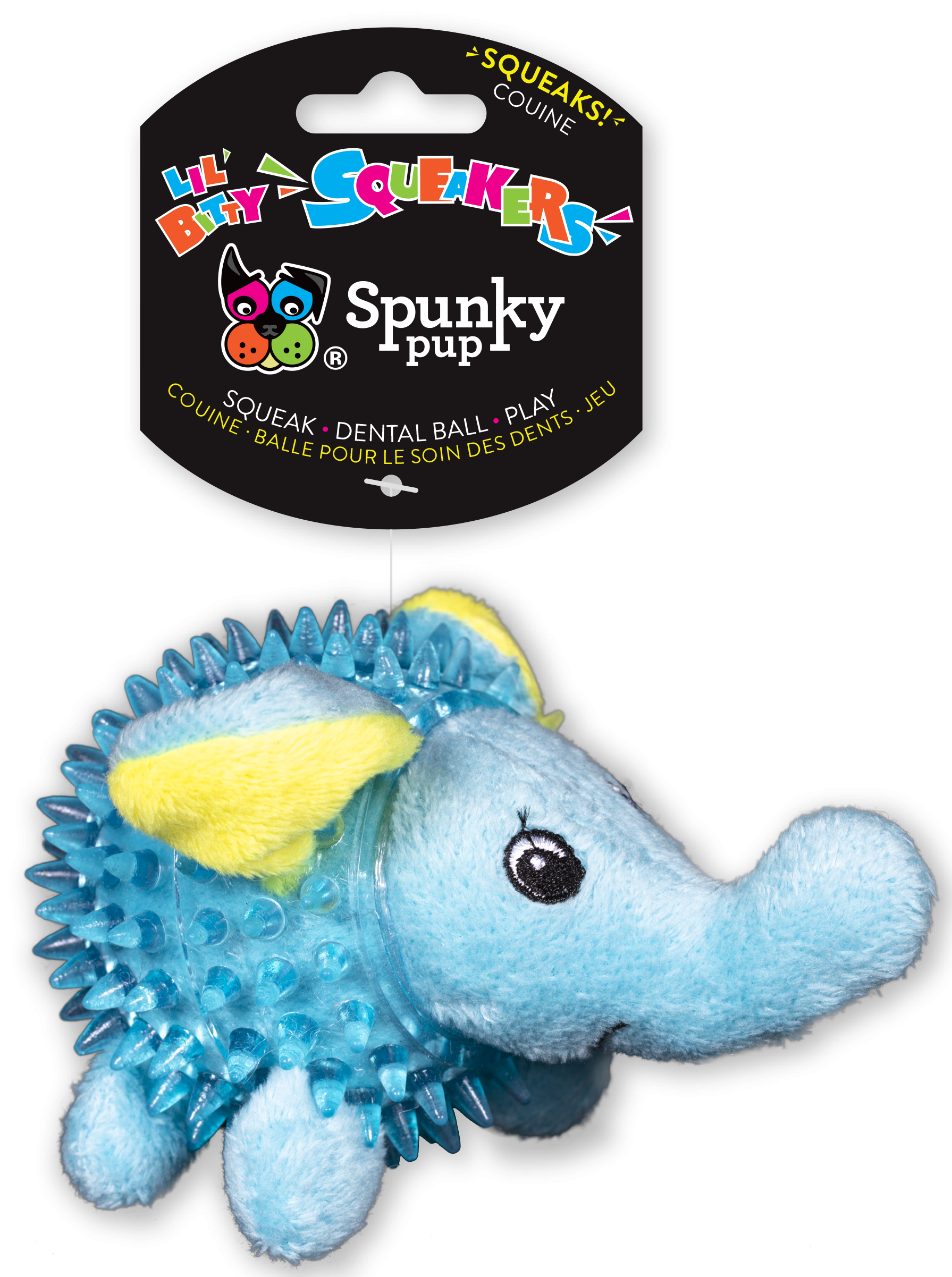 Spunky Pup Lil' Bitty Squeakers Elephant Dog Toy