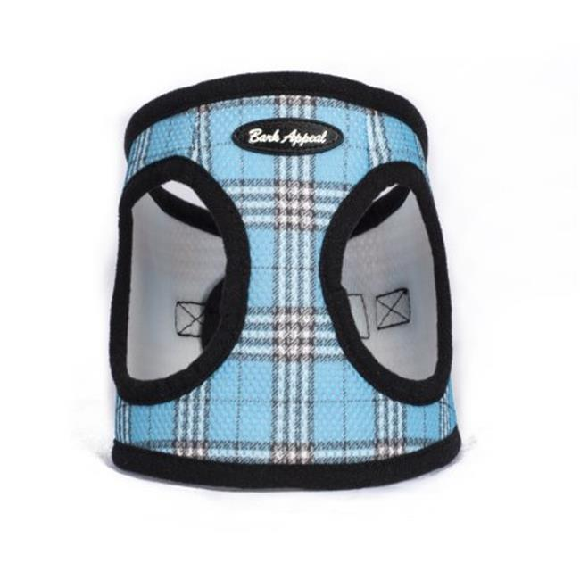 Bark Appeal Mesh EZ Wrap Step In Dog Harness, Blue Plaid, XX-Large