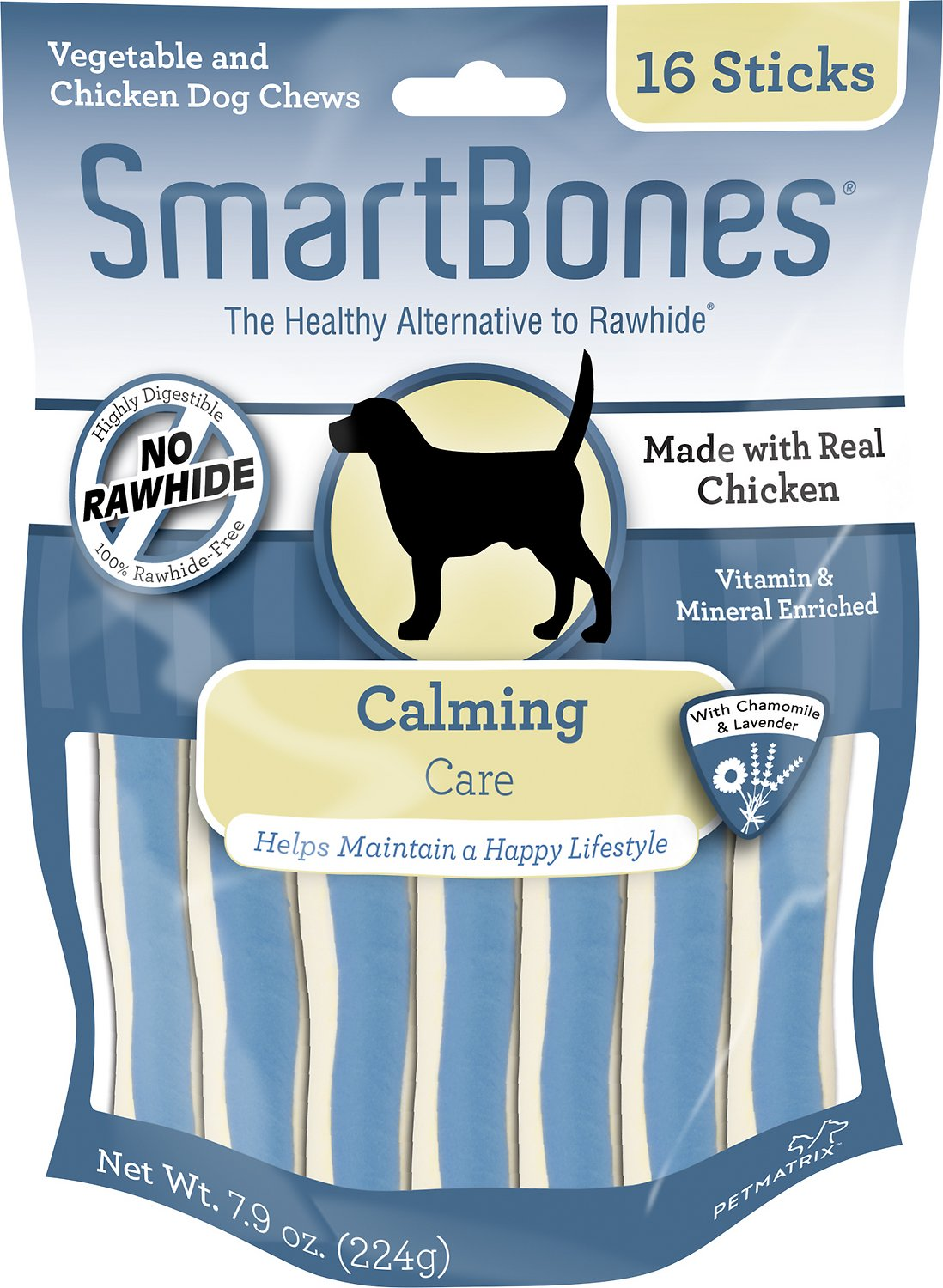 SmartBones Calming Care Chicken Chews Dog Treats, 16 pack (Weights: 7.84 ounces) Image