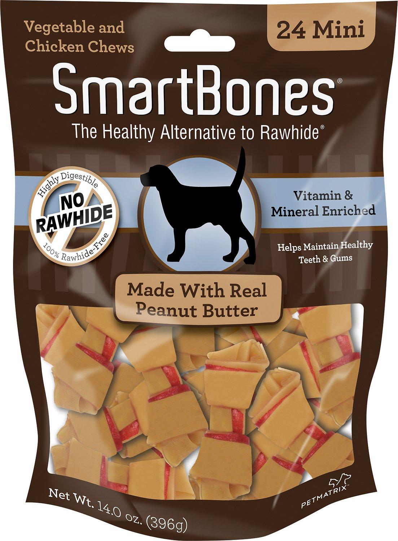 SmartBones Mini Peanut Butter Chew Bones Dog Treats, 24-pk (Size: 24-pk, Size: 24-pk, Size: 24-pk) Image