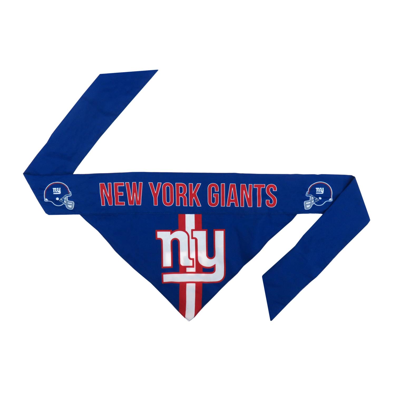 Little Earth Tie-On Dog Bandana, NFL New York Giants Image