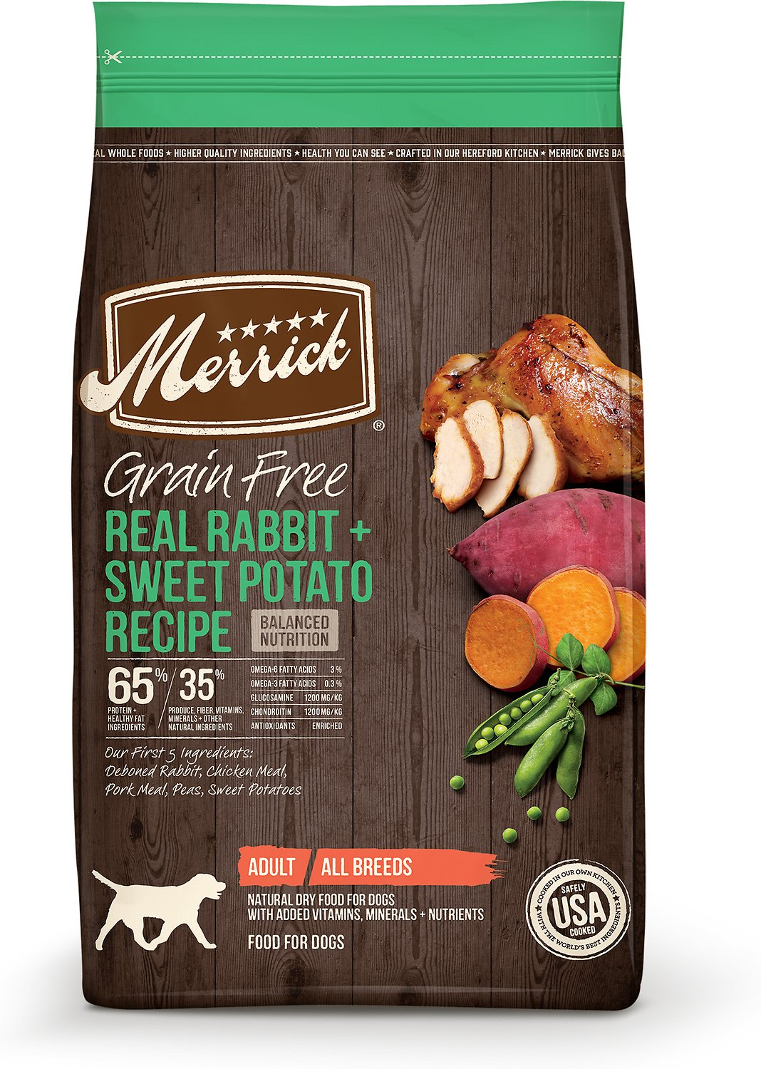 Merrick Grain-Free Real Rabbit + Sweet Potato Recipe Dry Dog Food Image