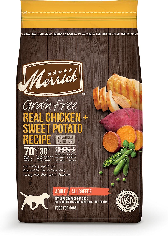 Merrick Grain-Free Real Chicken + Sweet Potato Recipe Dry Dog Food, 10-lb