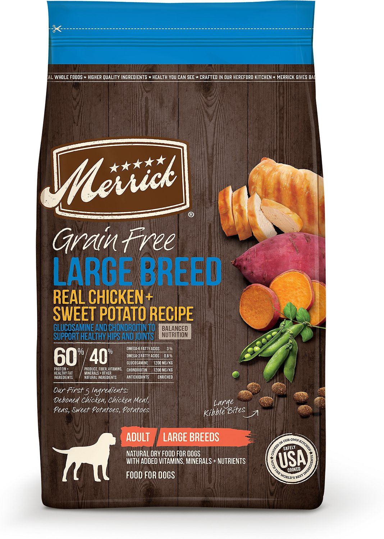 Merrick Grain-Free Large Breed Real Chicken & Sweet Potato Recipe Dry Dog Food, 10-lb