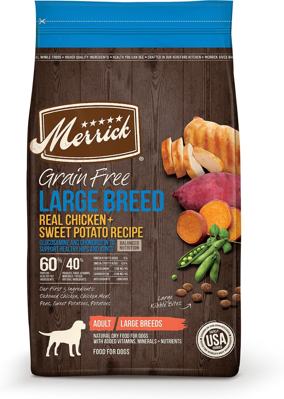 Merrick Grain-Free Large Breed Real Chicken & Sweet Potato Recipe Dry Dog Food, 22-lb