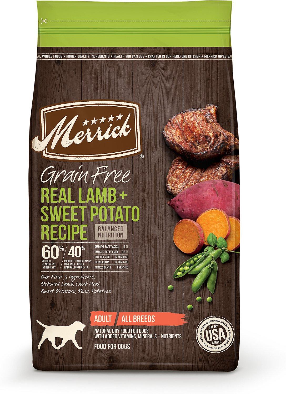 Merrick Grain-Free Real Lamb + Sweet Potato Recipe Dry Dog Food, 10-lb