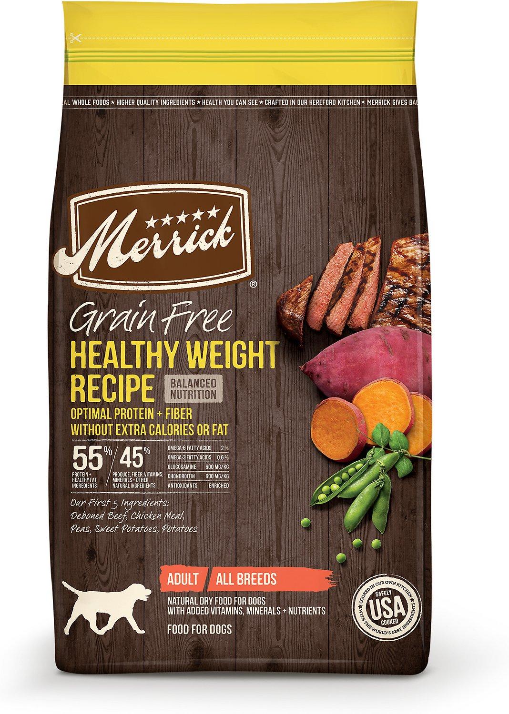Merrick Grain-Free Healthy Weight Recipe Dry Dog Food, 4-lb