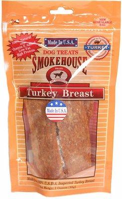 Smokehouse USA Turkey Breast Dog Treats, 3-oz bag