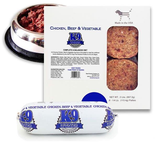 K-9 Kraving Chicken, Beef & Vegetable Raw Frozen Dog Food Image