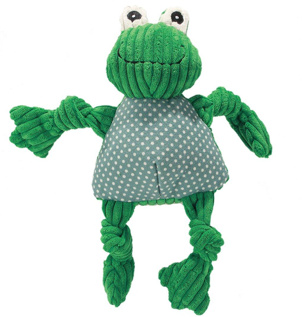 HuggleHounds Knottie Frog Dog Toy Image