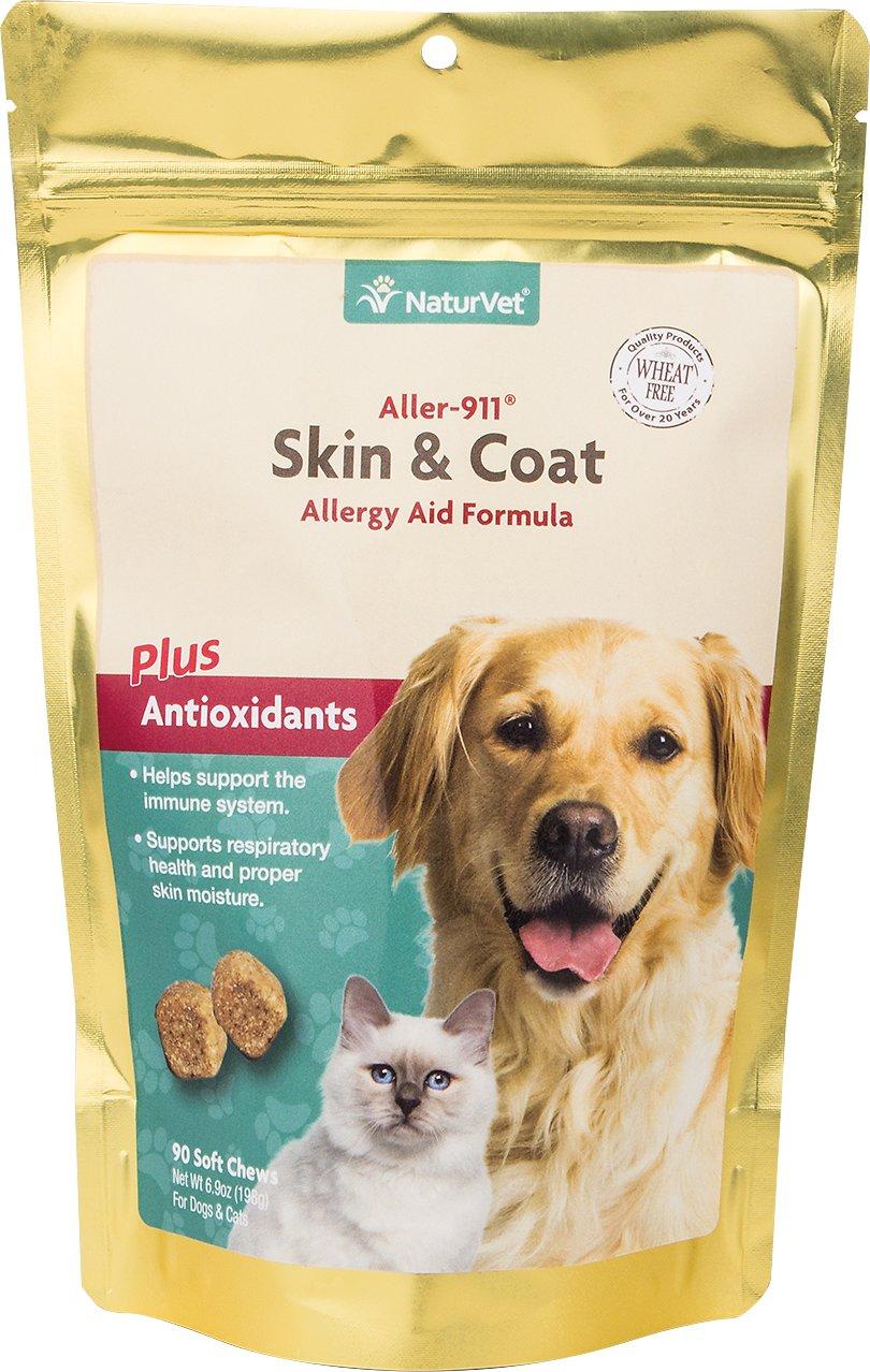 NaturVet Aller-911 Allergy Aid Plus Antioxidants Dog Soft Chews, 90-count