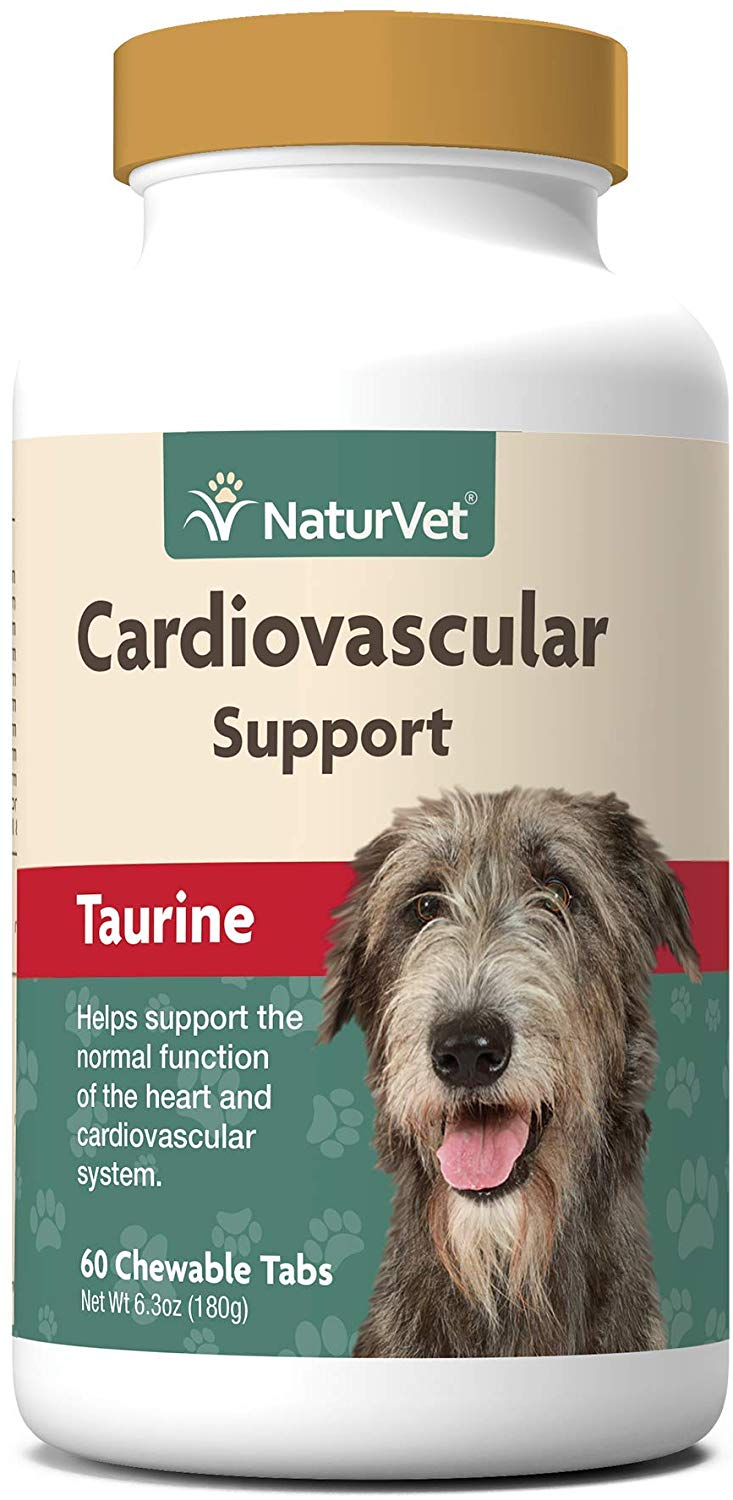 NaturVet Cardiovascular Support Taurine Dog Supplement, 60-count (Size: 60-count) Image