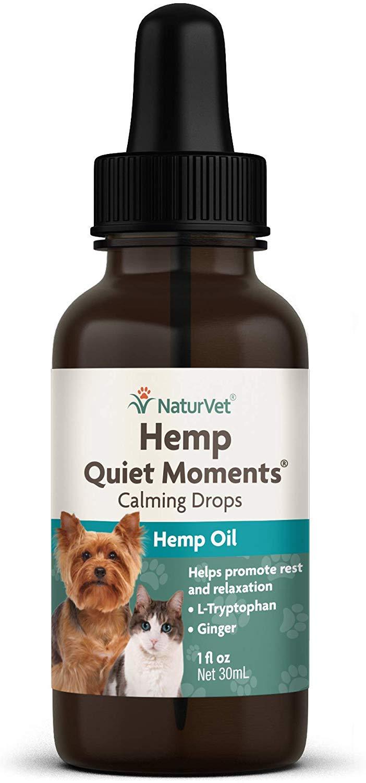 NaturVet Quiet Moments Calming Drops Alternative Supplement for Dogs & Cats, 1-oz