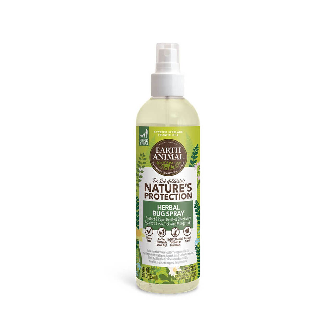 Earth Animal Nature's Protection Herbal Bug Spray for Dogs Image