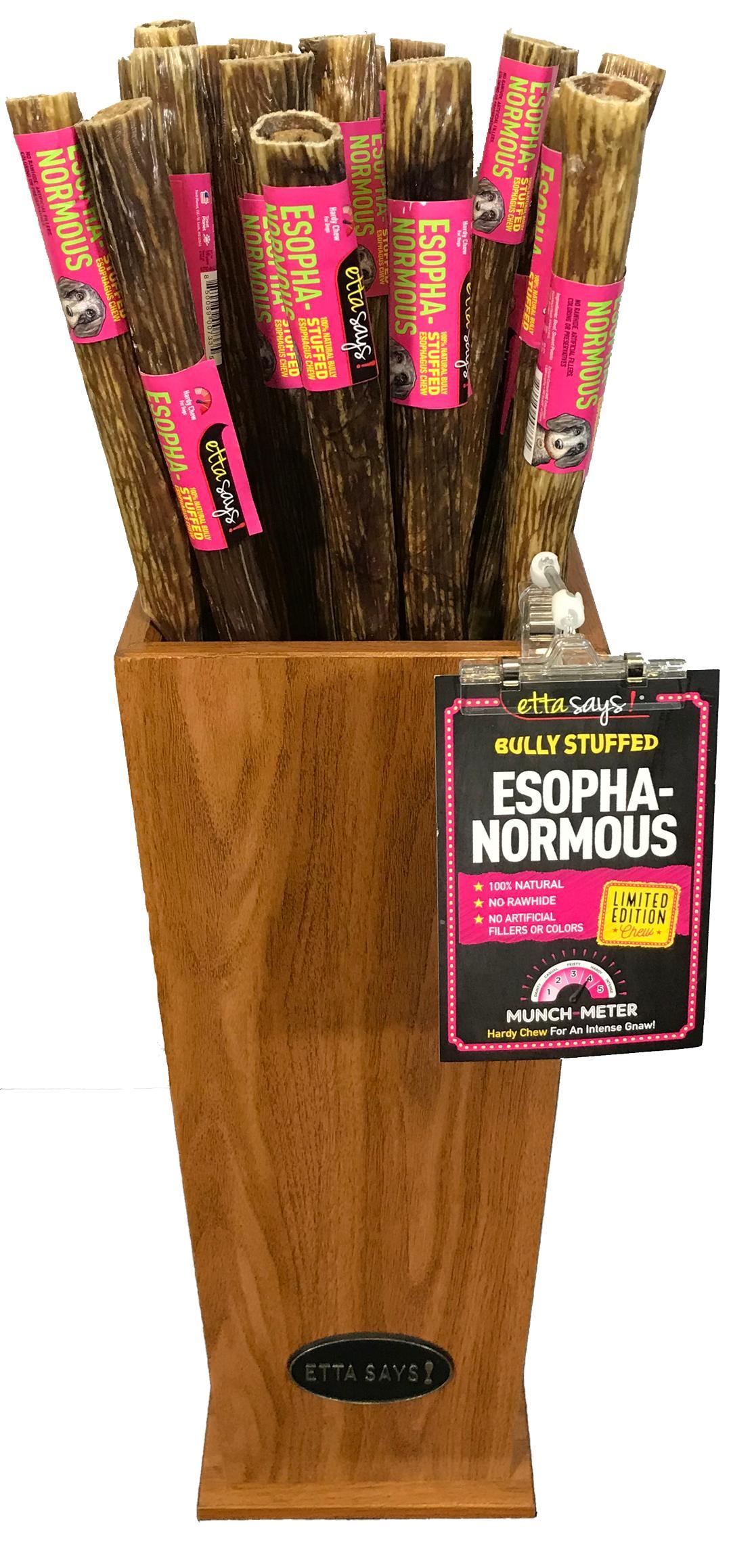 Etta Says! Esophanormous Bully Chew Dog Treats, 30-inch, 1-count