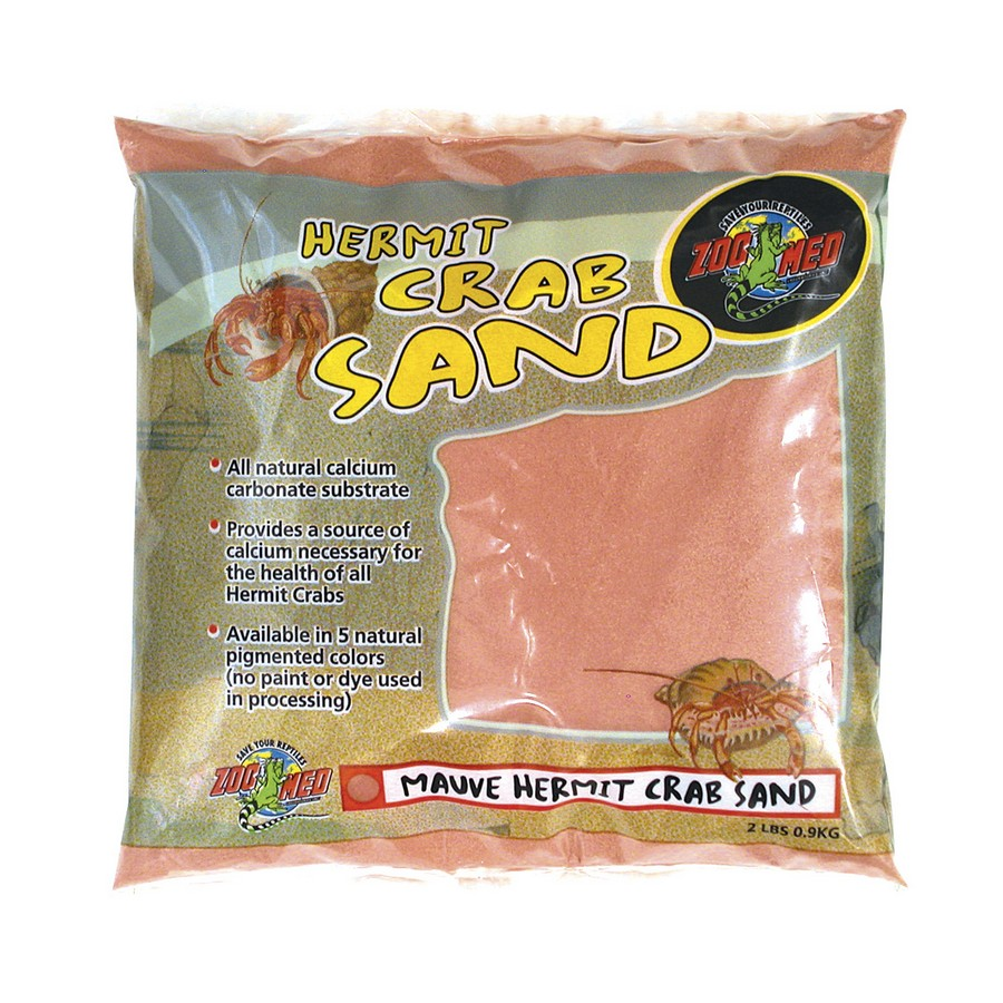 Zoo Med Hermit Crab Sand, Mauve, 2-lb