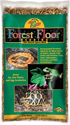 Zoo Med Forest Floor Natural Cypress Mulch Reptile Bedding, 8-qt bag