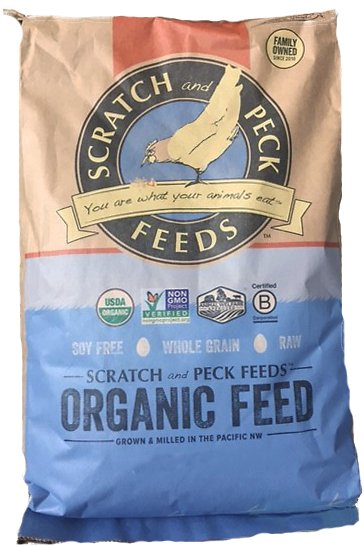 Scratch and Peck Feeds Naturally Free Organic Grower Chicken & Duck Feed, 25-lb bag (Weights: 25.0 pounds) Image