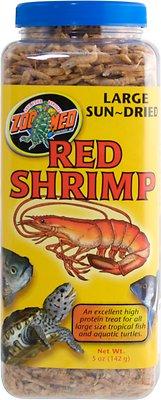 Zoo Med Large Sun-Dried Red Shrimp Turtle Treats, 5-oz jar