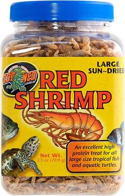 Zoo Med Large Sun-Dried Red Shrimp Turtle Treats, 2.5-oz jar