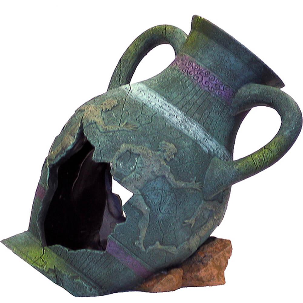 Blue Ribbon Exotic Environments Ancient Vases & Urns Greek Aquarium Ornaments