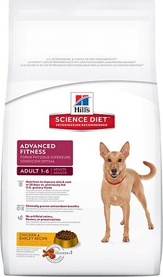 Hill's Science Diet Adult Advanced Fitness Chicken & Barley Recipe Dry Dog Food, 17.5-lb bag