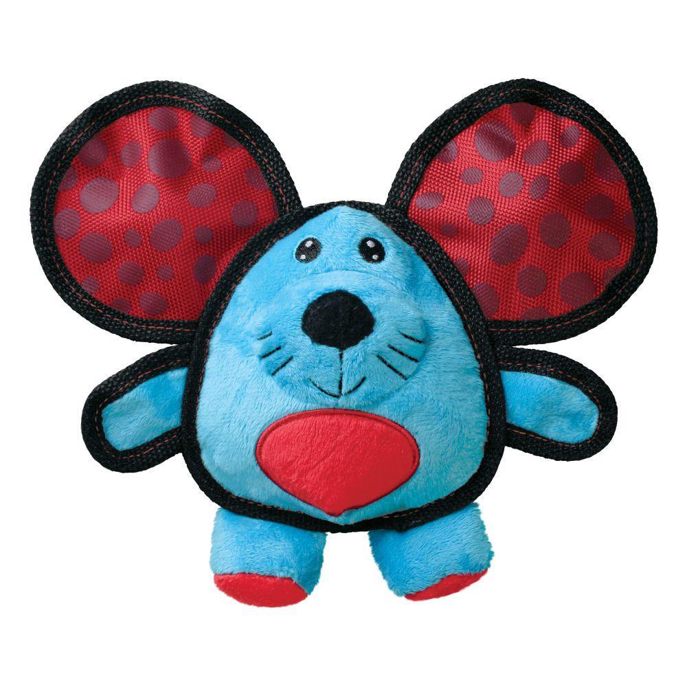 KONG Ballistic Ears Mouse Dog Toy, Blue, Medium