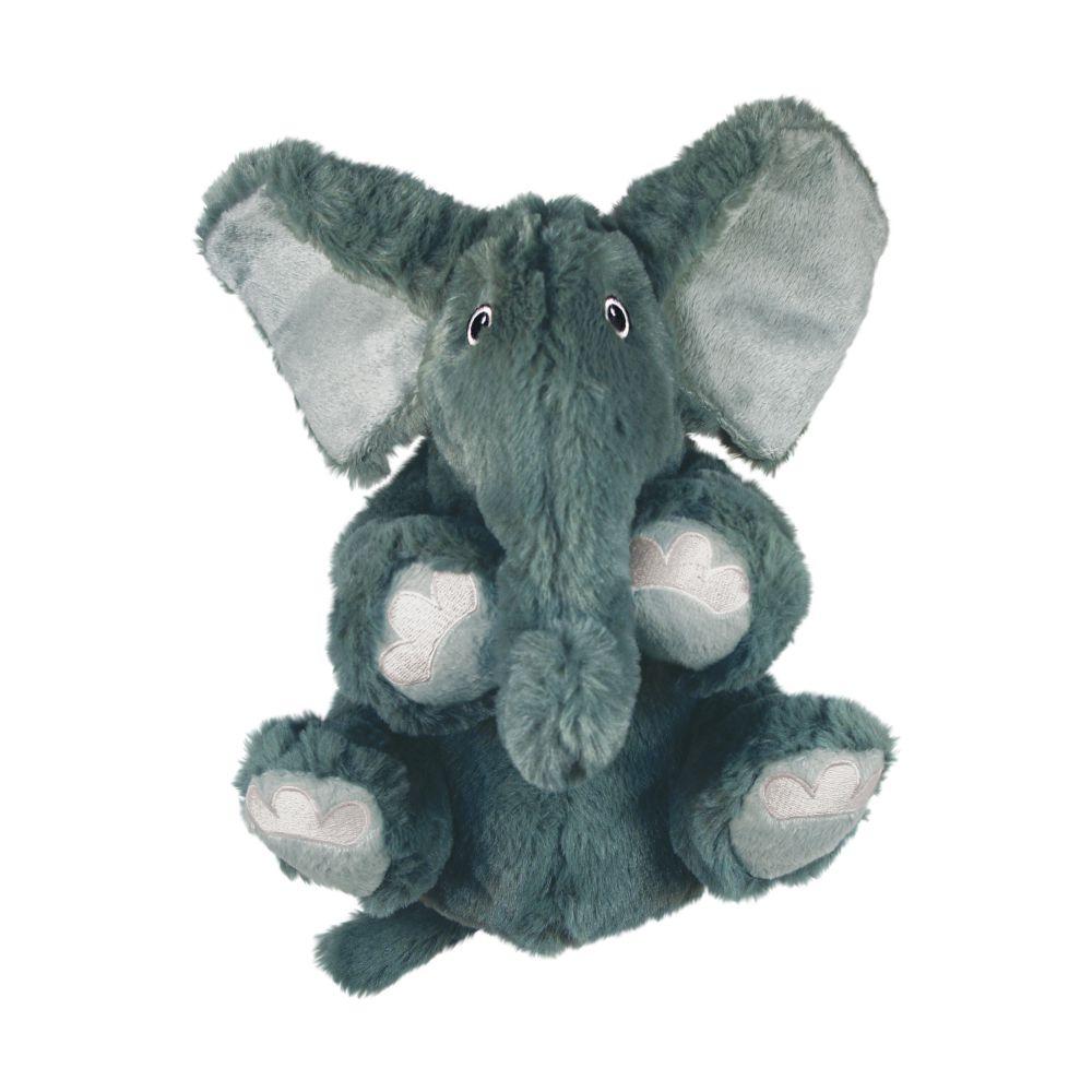 KONG Comfort Kiddos Elephant Plush Dog Toy, Gray Image