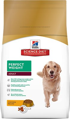 Hill's Science Diet Adult Perfect Weight Dry Dog Food, 4-lb bag