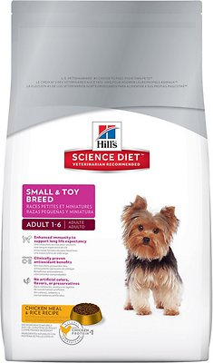 Hill's Science Diet Adult Small & Toy Breed Dry Dog Food, 4.5-lb bag