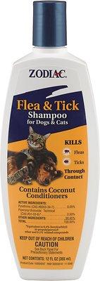 Zodiac Flea & Tick Shampoo for Dogs & Cats, 12-oz