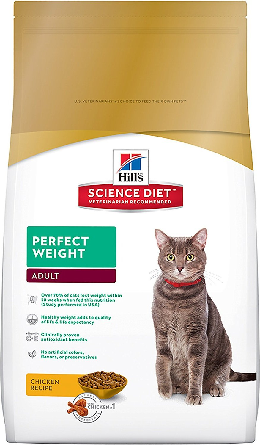 Hill's Science Diet Adult Perfect Weight Dry Cat Food Image