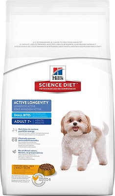 Hill's Science Diet Adult 7+ Active Longevity Small Bites Dry Dog Food, 5-lb bag