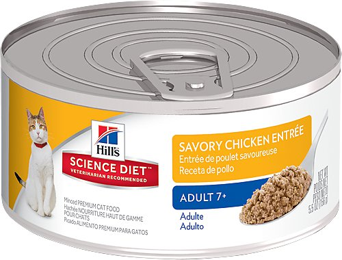 Hill's Science Diet Adult 7+ Savory Chicken Entree Canned Cat Food, 5.5-oz