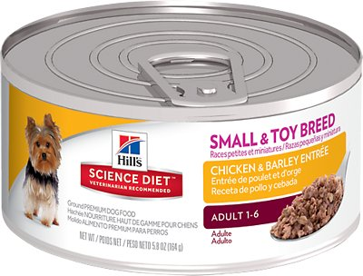 Hill's Science Diet Adult Chicken & Barley Entree Canned Dog Food, 5.8-oz, case of 24