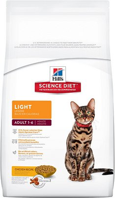 Hill's Science Diet Adult Light Dry Cat Food, 7-lb bag