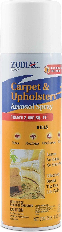 Zodiac Carpet & Upholstery Flea & Tick Aerosol Spray, 16-oz