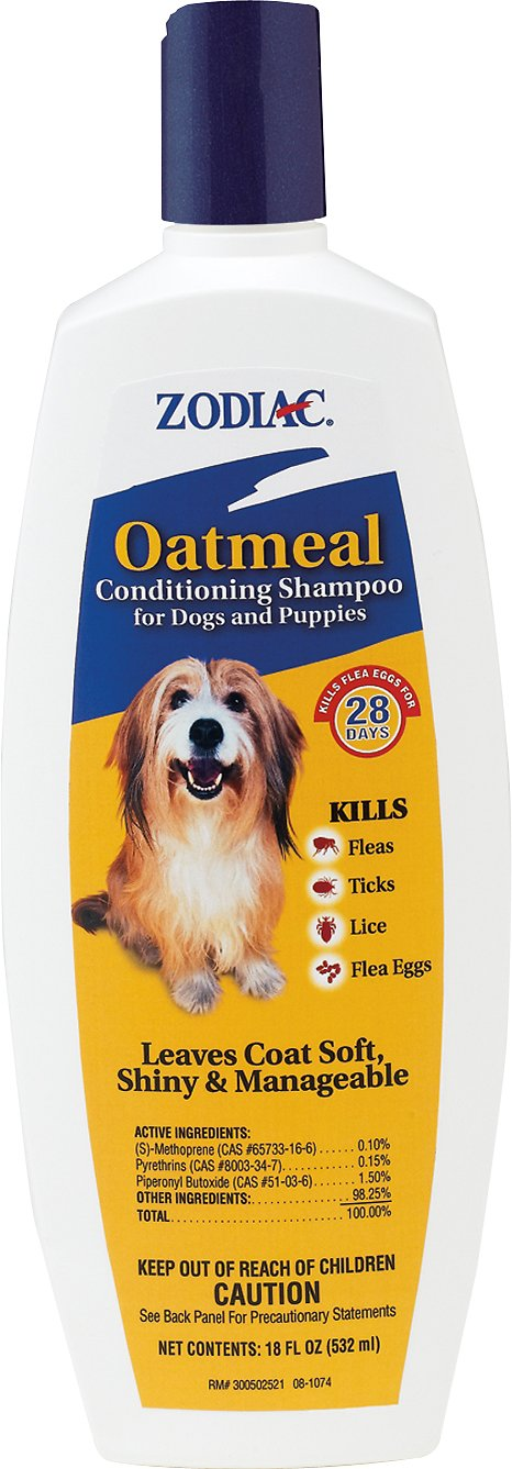 Zodiac Oatmeal Conditioning Shampoo for Dogs & Puppies, 18-oz (Size: 18-oz) Image